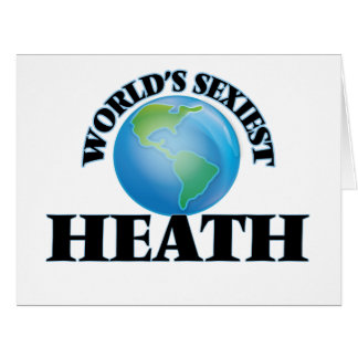 World's Sexiest Heath Large Greeting Card