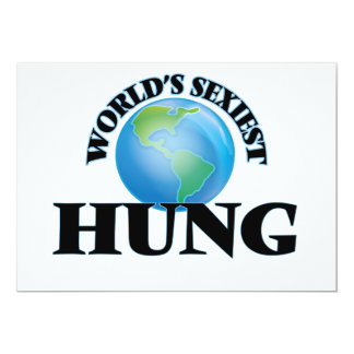 World's Sexiest Hung 5x7 Paper Invitation Card