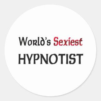 World's Sexiest Hypnotist Round Sticker