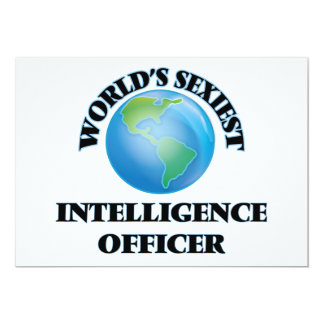 World's Sexiest Intelligence Officer 5x7 Paper Invitation Card