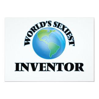"World's Sexiest Inventor 5"" X 7"" Invitation Card"