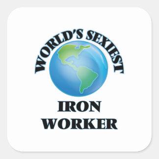 World's Sexiest Iron Worker Square Sticker