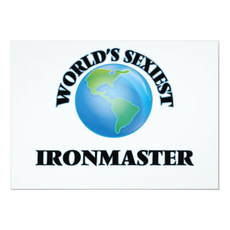 World's Sexiest Ironmaster 5x7 Paper Invitation Card