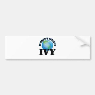 World's Sexiest Ivy Car Bumper Sticker