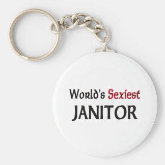 World's Sexiest Janitor Keychain