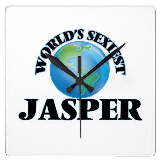 World's Sexiest Jasper Square Wallclock