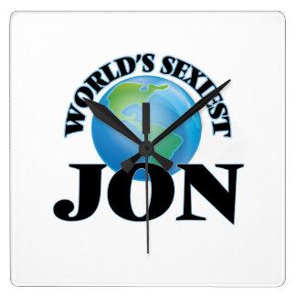 World's Sexiest Jon Square Wall Clocks