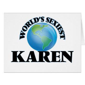 World's Sexiest Karen Greeting Card
