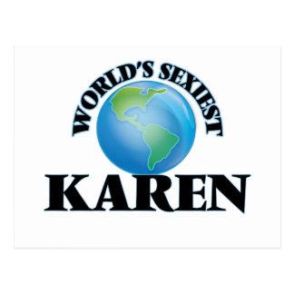 World's Sexiest Karen Post Cards