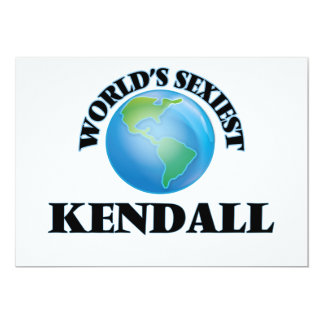World's Sexiest Kendall Personalized Invitation
