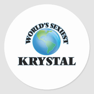 World's Sexiest Krystal Classic Round Sticker