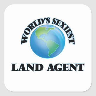 World's Sexiest Land Agent Square Sticker