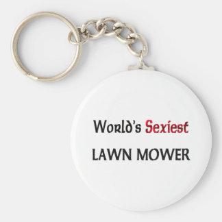 World's Sexiest Lawn Mower Basic Round Button Keychain