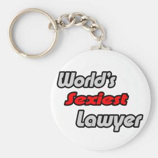 World's Sexiest Lawyer Basic Round Button Keychain
