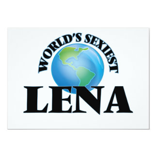 World's Sexiest Lena Personalized Announcements