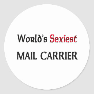World's Sexiest Mail Carrier Classic Round Sticker