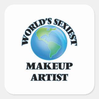 World's Sexiest Makeup Artist Square Sticker