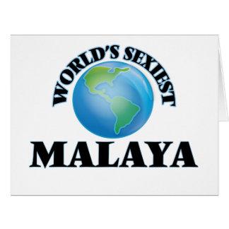 World's Sexiest Malaya Large Greeting Card