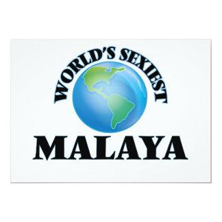World's Sexiest Malaya 5x7 Paper Invitation Card