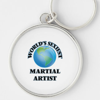World's Sexiest Martial Artist Silver-Colored Round Keychain