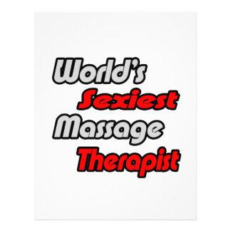 World's Sexiest Massage Therapist Flyer