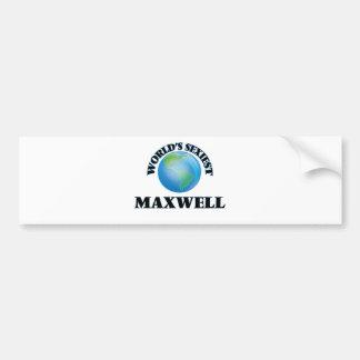World's Sexiest Maxwell Car Bumper Sticker