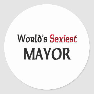 World's Sexiest Mayor Classic Round Sticker