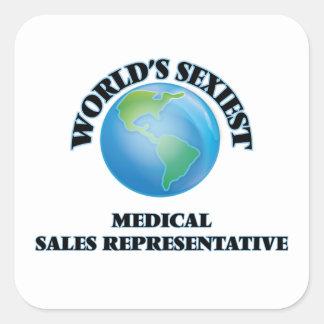World's Sexiest Medical Sales Representative Square Sticker