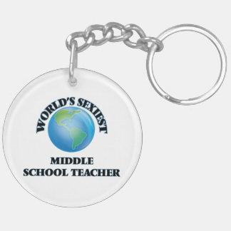 World's Sexiest Middle School Teacher Acrylic Key Chain