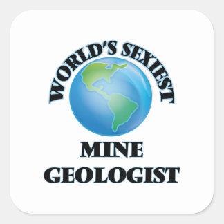World's Sexiest Mine Geologist Square Sticker