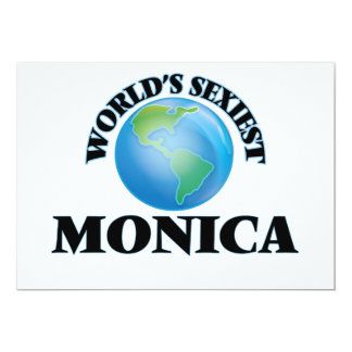 World's Sexiest Monica Customized Invitation Cards