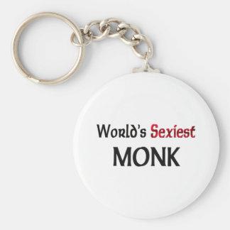 World's Sexiest Monk Basic Round Button Keychain
