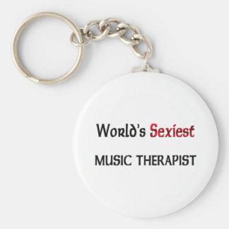 World's Sexiest Music Therapist Keychains