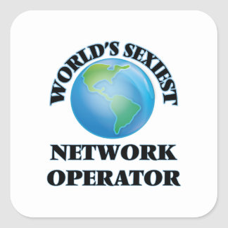 World's Sexiest Network Operator Square Sticker