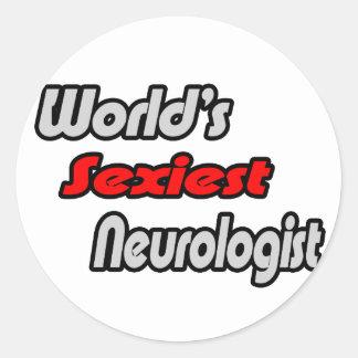World's Sexiest Neurologist Classic Round Sticker