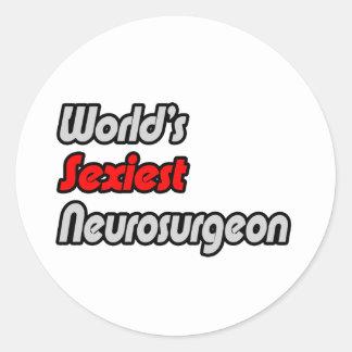 World's Sexiest Neurosurgeon Classic Round Sticker