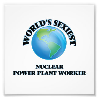 World's Sexiest Nuclear Power Plant Worker Photo Print