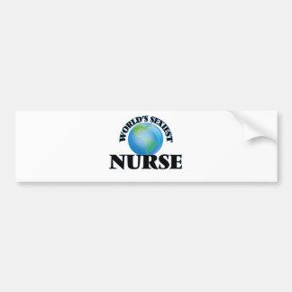 World's Sexiest Nurse Bumper Sticker