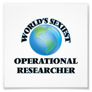 World's Sexiest Operational Researcher Photograph