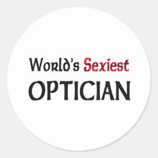 World's Sexiest Optician Classic Round Sticker