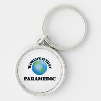 World's Sexiest Paramedic Silver-Colored Round Keychain
