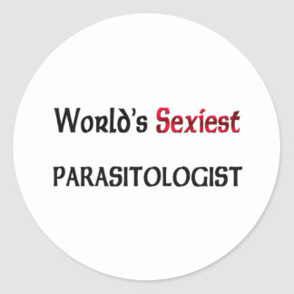 World's Sexiest Parasitologist Classic Round Sticker