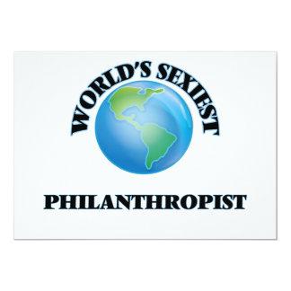 "World's Sexiest Philanthropist 5"" X 7"" Invitation Card"