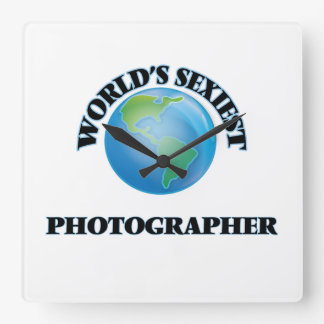 World's Sexiest Photographer Square Wall Clock