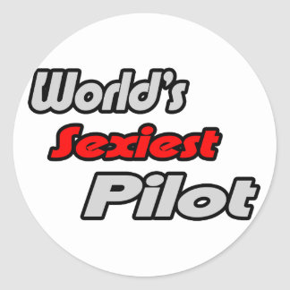 World's Sexiest Pilot Classic Round Sticker