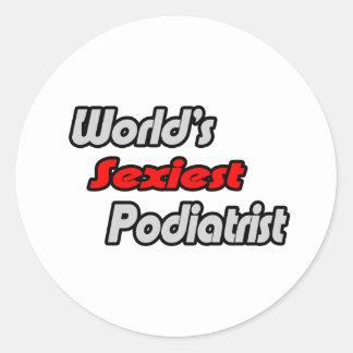World's Sexiest Podiatrist Classic Round Sticker