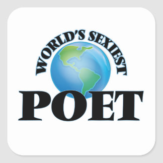 World's Sexiest Poet Square Stickers
