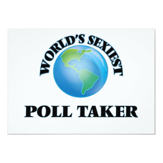 World's Sexiest Poll Taker Card