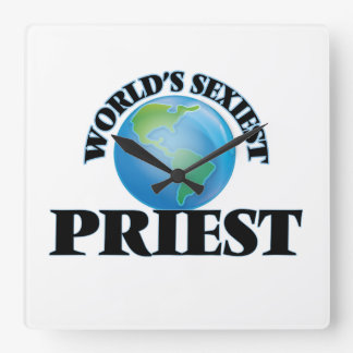 World's Sexiest Priest Square Wall Clock