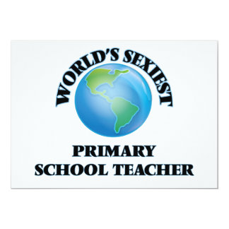 World's Sexiest Primary School Teacher Personalized Invites